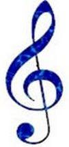 Treble Clef Blue
